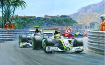 1-2 Monaco Grand Prix 2009 (Jenson Button & Rubens Barrichello)