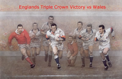 A Call To Arms - Triple Crown - England win vs Wales by Stephen Doig
