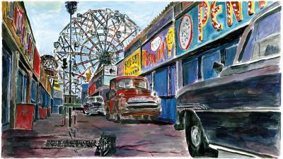 Amusement Park Alleyway