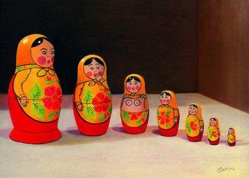 Blushin' Dolls - Canvas