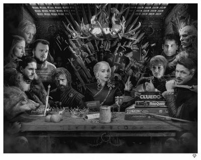 Board - Game of Thrones - Black & White