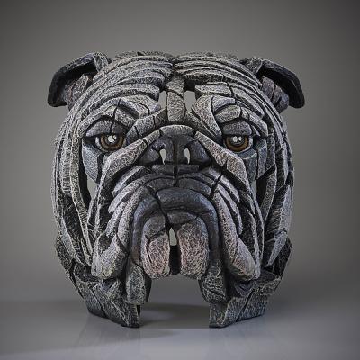 Bulldog Bust - White by Edge Sculptures by Matt Buckley