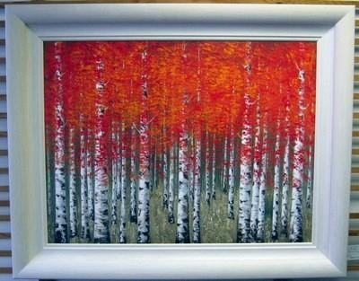 Burnt Sienna - White Frame