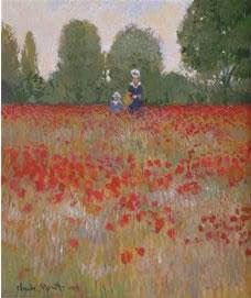 Camille & Jean Monet In A Poppyfield, 1873