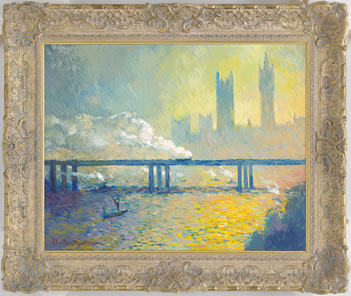 Charing Cross Railway Bridge (Early Morning) In The Style Of claude Monet