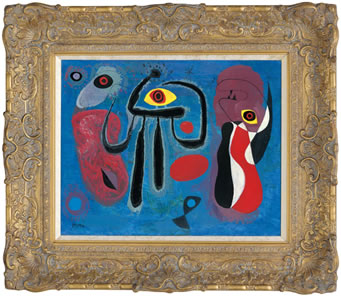 Children Frightened By A Spider In The Style Of Miro