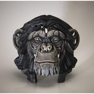 Chimpanzee Bust by Edge Sculptures by Matt Buckley
