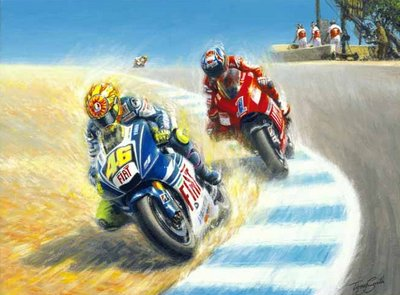 Coming Through (Valentino Rossi taking Casey Stoner)