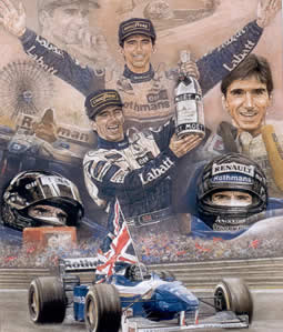 Damon Hill World Champion by Stephen Doig