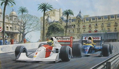 Dicing At Casino - Senna & Mansell
