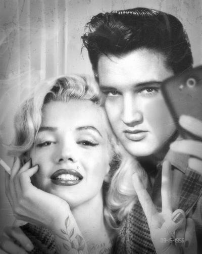 Elvis and Marilyn Photobooth
