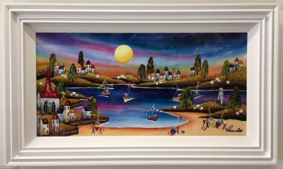 Evening Beach (36 x 18) by Roz Bell