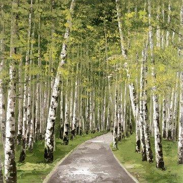Forest Green - White Frame