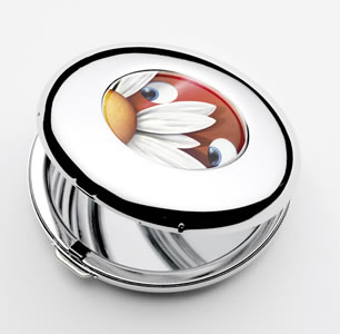 Forget Me Not - Compact Mirror by Peter Smith
