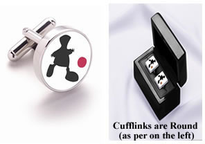 Game Of Life - Pair Round Silver Cufflinks (Boxed) by Mackenzie Thorpe