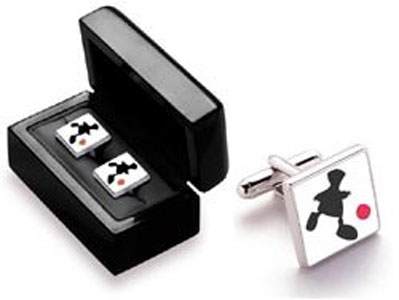 Game Of Life - Pair Square Silver Cufflinks (Boxed) by Mackenzie Thorpe