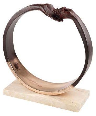 Give & Take III (Bronze Plated Resin)