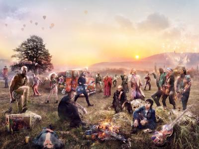 Glasto- Large by Mark Davies