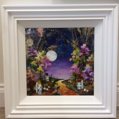 Harvest Moon (16 x 16) by Rozanne Bell