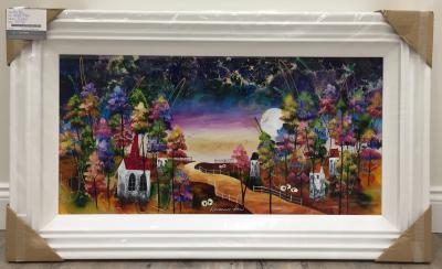 Harvest Moon 36 x 18 by Roz Bell