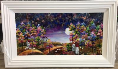 Harvest Moon II 36 x 18 by Roz Bell