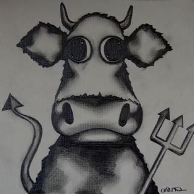 Horny Cow (Pencil Sketch)