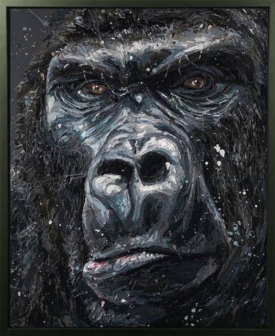 Jock- Hand Embellished Canvas