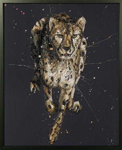 Lance- Hand Embellished Canvas by Paul Oz