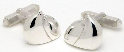 Lean On Me - Sterling Silver Cufflinks