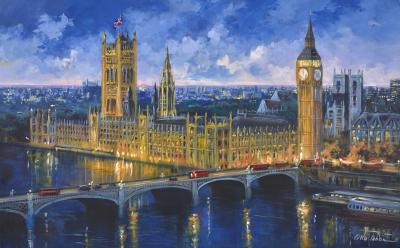 London View of Westminster II by Csilla Orban