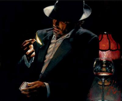 Man Lighting a Cigarette II
