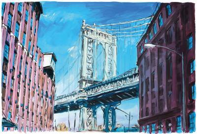 Manhattan Bridge Downtown New York