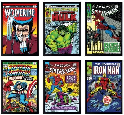 Marvel Super Heroes Set of 6 Canvas