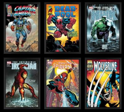 Marvel Superheroes - Paper set of 6