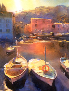 Mediterranean Harbour by Cecil Rice