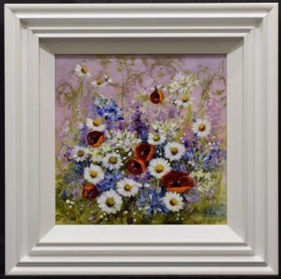 Metallic Floral I (16 x 16)