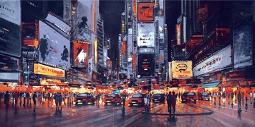Midnight Manhattan by Henderson Cisz