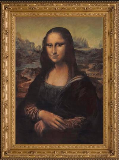 Mona Lisa in the style of Leonardo Da Vinci