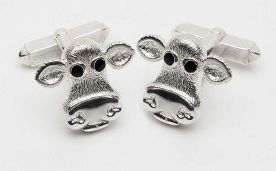 Moo - Sterling Silver Cufflinks