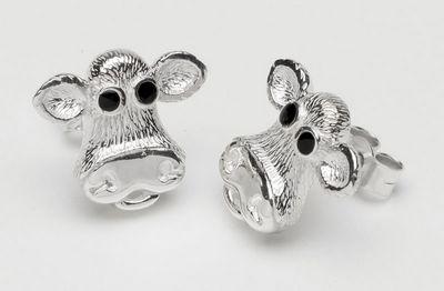 Moo - Sterling Silver Earrings