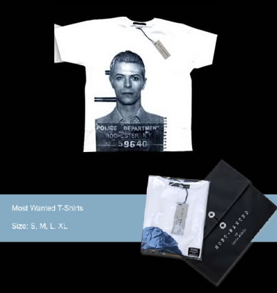 Most Wanted T-shirt - David Bowie