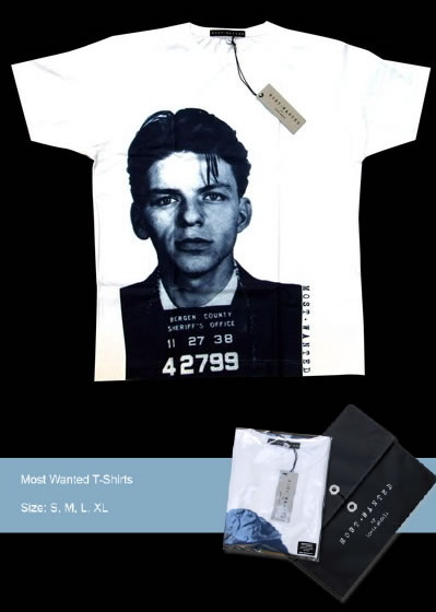 Most Wanted T-shirt - Frank Sinatra