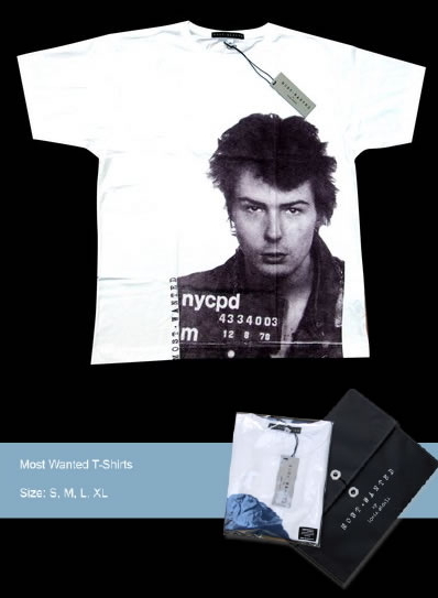Most Wanted T-shirt - Sid Vicious