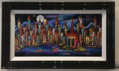 Night Harbour II 36 x 18