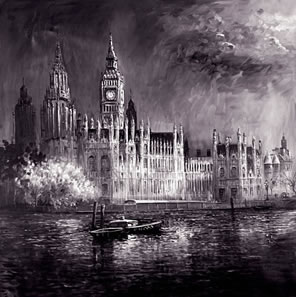 Night On The Thames (On Aluminium)