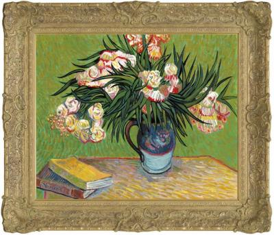 Oleanders In The Style of Vincent Van Gogh by John Myatt