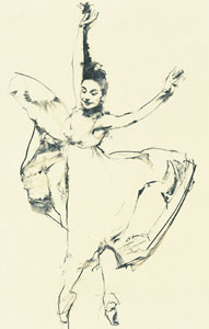 Ondine - Margot Fonteyn by Robert Heindel
