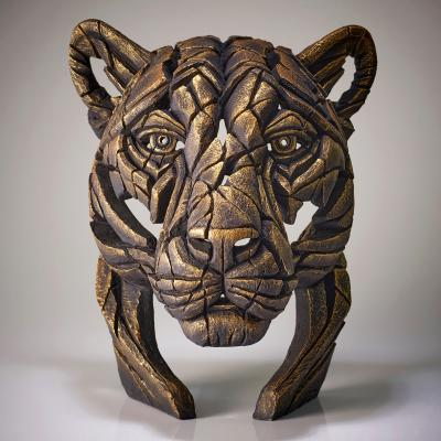 Panther Bust- Temple Gold