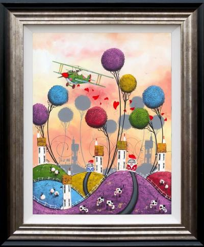 Plane Love - High Gloss Resin with 3D Elements