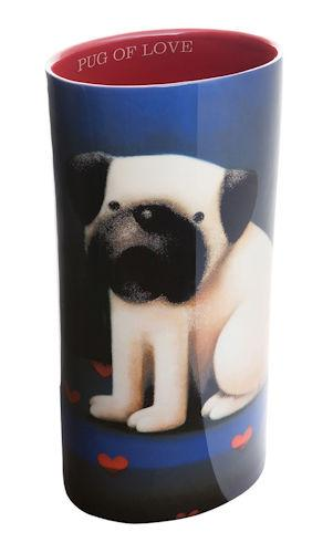 Pug Of Love - Vase by Doug Hyde